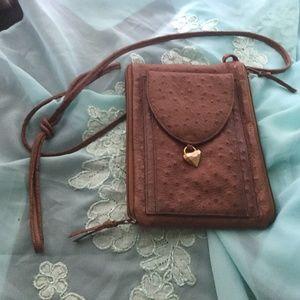 Crossbody Pigskin long strap mini purse
